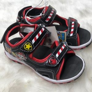 Paw Patrol Toddler Velcro Strap-On Sandals Size 9
